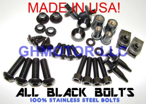 2003 2004 2005 2006 Honda Cbr600rr Complete ALL Black Color Fairing Bolts Screws Kit