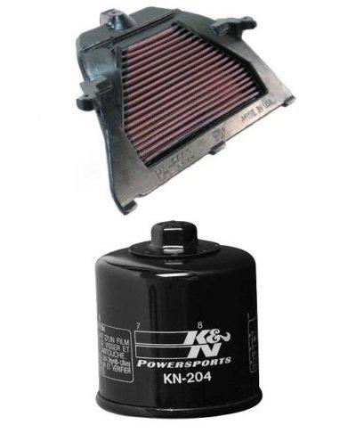 K&N Motorcycle Air Filter  Oil Filter Combo 2003-2006 Honda CBR600RR HA-6003  KN-204