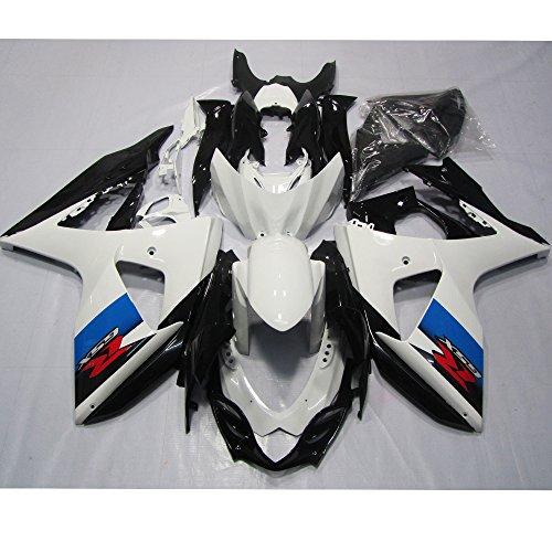ZXMOTO White Black Painted With Graphic Fairing Kit for Suzuki GSXR 1000 K9 2009-2010