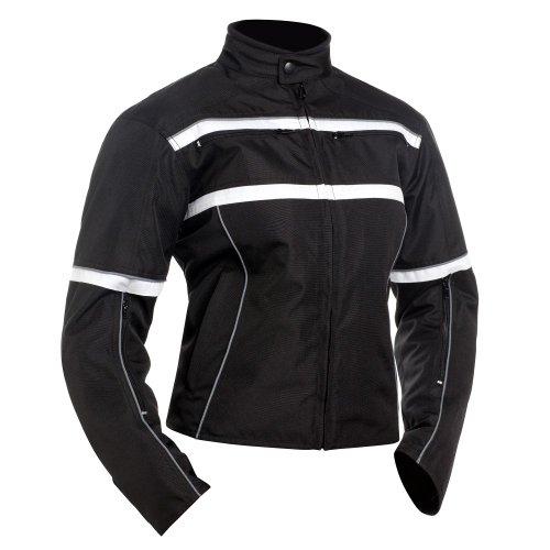 Bilt Women's Helia Waterproof Vented Textile Motorcycle Jacket - Sm, Black/white
