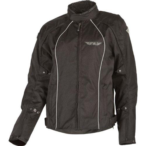 Fly Racing Georgia Women's Waterproof On-road Racing Motorcycle Jacket - Black / Size 13-14