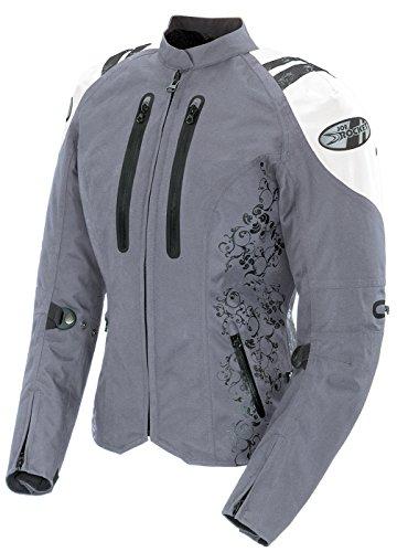 Joe Rocket Atomic 4.0 Women's Textile Street Motorcycle Jacket - Silver/white / Large