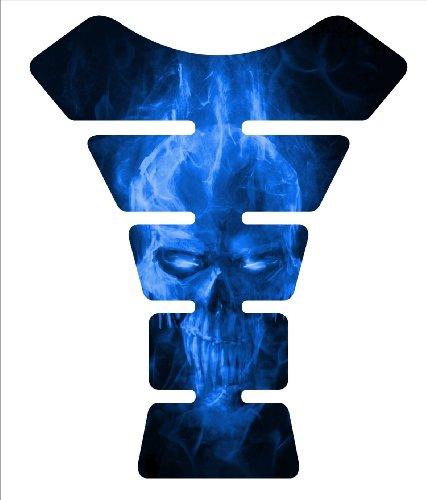 Ice Skull Dark Blue Motorcycle Tankpad Kawasaki Ninja Zx Suzuki Gsxr Honda Cbr Yamaha Yzf Triumph Motorcycle Tank
