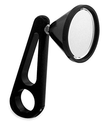JayBrake J-8-13 Billet Clamp-On Mirror for 1in Handlebar - Black