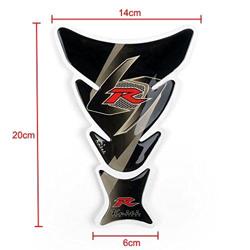 Areyourshop Motorcycle Oil Tank Protector Pad R For Suzuki GSXR 600 750 1000 1300 Black
