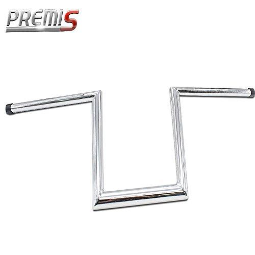 Premis Chrome 10 Ape Hangers Z-Bars Handle bar Fit Harley Dyna Softail Bobber Chopper