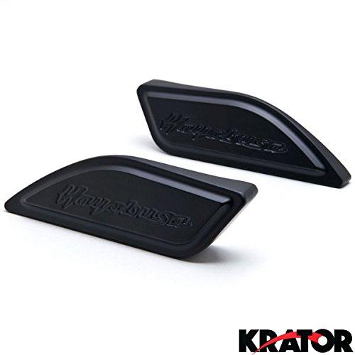 Krator Black Gas Tank Pad Side Cover Cap for Suzuki Hayabusa Busa GSX1300R 1999-2014 Black Gas Tank Pad Side Cover Cap Hayabusa Logo