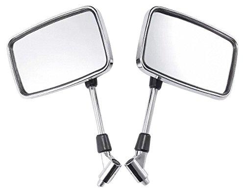 Big Chrome Retangle Mirrors for 2003 Honda Shadow ACE 750 VT750C