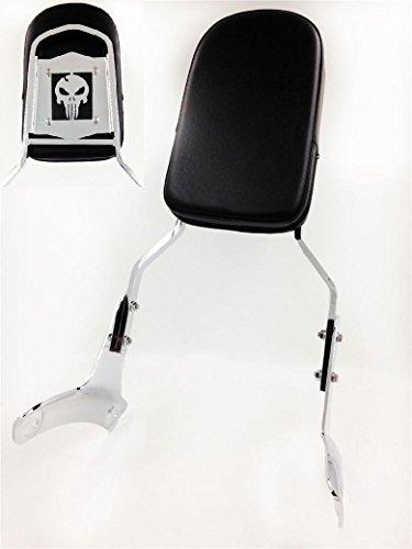HK MOTO- Skull Backrest Sissy Bar For 1997-2003 Honda Shadow Ace 750 Vt750 400 Vt400