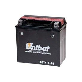 Unibat Maintenance-Free Battery with Acid CBTX14-BS for Honda Shadow 750 ACE VT750C 1997-2005