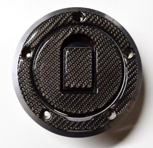 Kawasaki Zx6r Zx10r Zx12r Zzr Ninja Real Carbon Fiber Fuel Tank Cap Filler Cover Pad