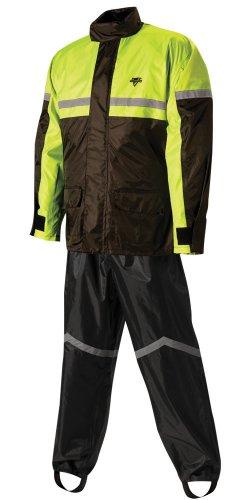 Nelson-Rigg Stormrider Rain Suit BlackHigh Visibility Yellow Large