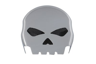 V-Twin 42-5041 Skull Horn Cover Chrome