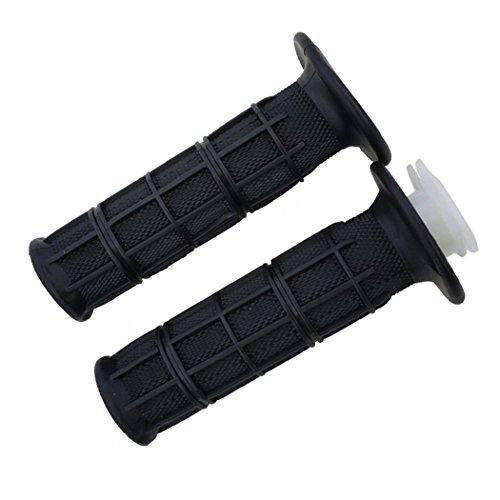 JCMOTO 78 22mm Black Rubber Gel Hand Grips Throttle Tube Motorcycle Dirt Pit Bike