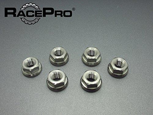 RacePro - Kawasaki W650 -EJ650 99-06 - x6 Titanium Rear Sprocket Nuts Natural