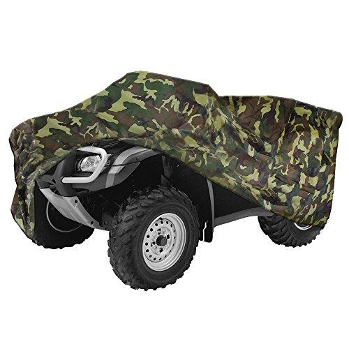 NEVERLAND 190T Quad Waterproof UTV ATV Cover for Kawasaki Bayou 250 2004-2011 Bayou 300 4x4 2004 KFX 450R 2008-2014 Camouflage L
