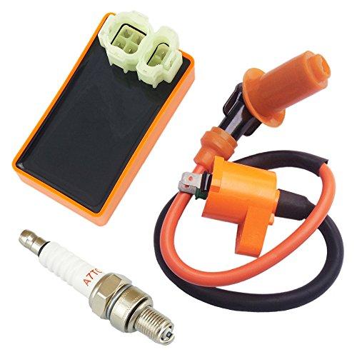 Qazaky Performance Ignition Coil  Spark Plug  AC 6 Pins CDI for Honda CRF50 XR50 XR70 XR80 XR100 Pit Dirt Bike