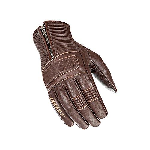 Joe Rocket Cafe Racer Mens Street Motorcycle Leather Gloves - Brown  Medium