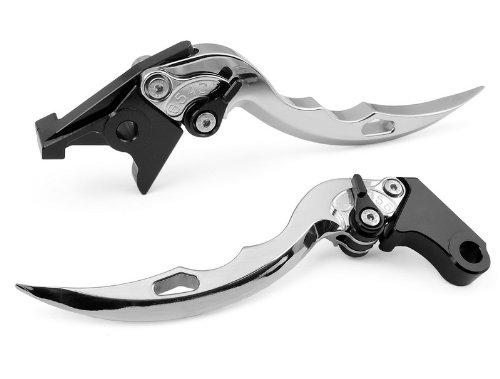 2 Pcs Oem Aluminum Blade Style Motorcycle Motorbike Racing Brakeamp Clutch Levers Silver Fit For Suzuki Hayabusa