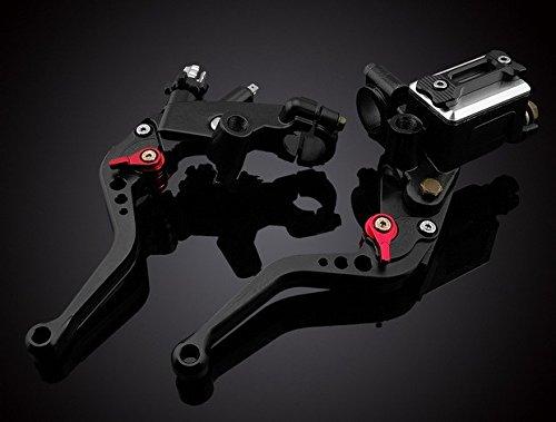 Luo Motorcycle Racing Parts Cnc Billet Adjustable Reservoir Brake Master Cylinder Clutch Cable Levers Kit Black