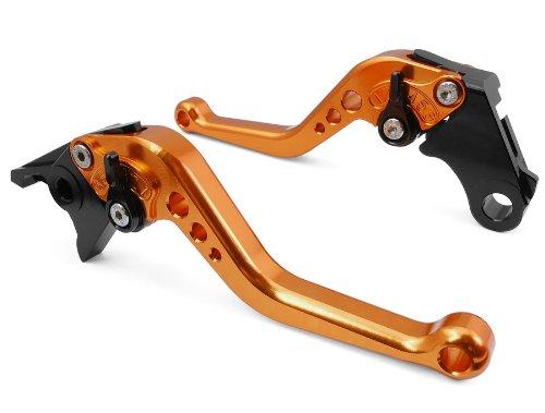 Pair Orange Motorcycle Racing Cnc Billet Short Brake Clutch Levers For Yamaha Yzf R1 2004 2005 2006 2007 2008