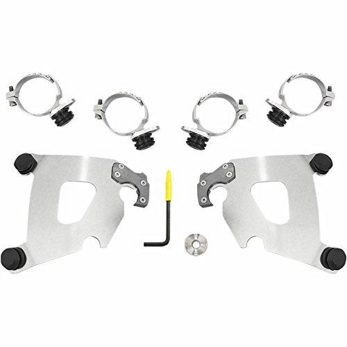 Memphis Shades MEK2015 Trigger-Lock Mount Kit for Cafe Fairing - Polished