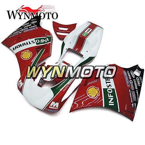 WYNMOTO ABS Injection Plastic Motorcycle Fairing Kit For 996 748 916 998 Red Green White Monoposto Single Seat 96 97 98 99 00 01 02 1996 - 2002 Sportbike Bodywork