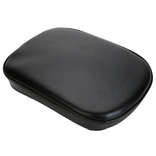 OSAN Large Leather PU Passenger Seat Backrest Pillion Cushion PadSuction For Harley Cruiser Chopper Custom