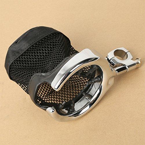 XFMT Universal Motorcycle Handlebar Cup Holder Chrome Metal Drink For Harley Davidson