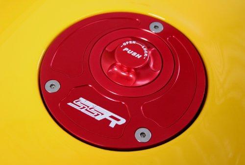 Honda Red Push Button Billet Gas Fuel Petro Cap Lid CBR F4 F4I 600RR 400RR 250