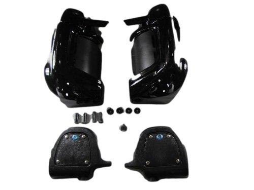 Mutazu 283900024 Vivid Black Harley Touring Lockable Lower Fairing