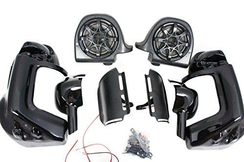 Mutazu 283900025 Vivid Black Harley Touring Speaker Pod lower Fairing