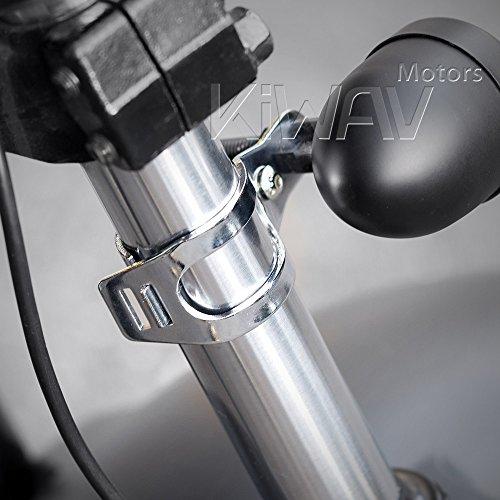 KiWAV Motorcycle Indicator turn signal Bracket Holder Chrome for 30~39mm Fork
