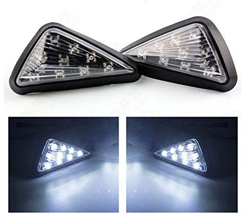 TASWK Triangle Flush LED Motorcycle Turn Signals Blinkers Indicator Lights 1 Pair White