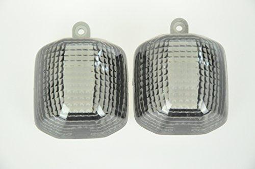 Topzone Lighting Smoked Motorcycle Indicators Turn Signal Lens For Yamaha 98-01 R1 98-02 R6 98-04 Fz1 98-04 Yzf600R