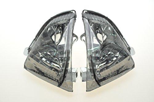 Topzone Moto Smoked Motorcycle Indicators Turn Signal Lens For Suzuki 2005-2006 GSXR1000 2006-2007 GSXR600 2006-2007 GSXR750 Rear