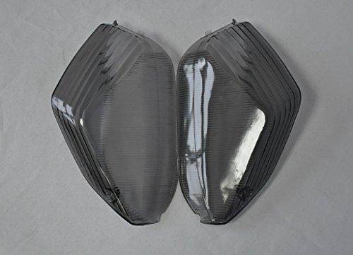 Topzone Smoked Motorcycle Indicators Turn Signal Lens For Kawasaki 06-07 Ninja Zx-10R 06-10 Ninja Zx-14R 08-10 Concours 14