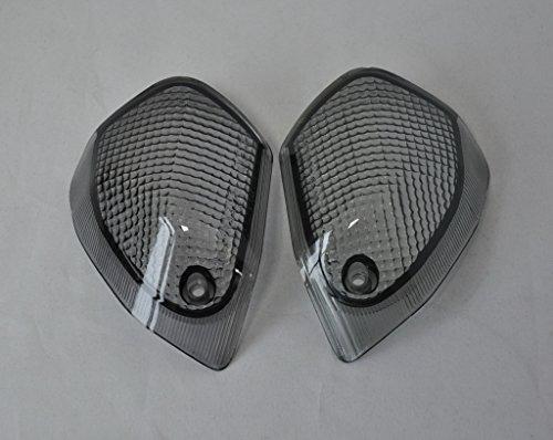 Topzone Smoked Motorcycle Indicators Turn Signal Lens For Kawasaki 94-04 Zx600EZzr600 Rear