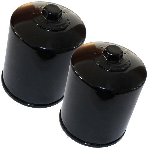Caltric 2-PACK Oil Filter Fits HARLEY DAVIDSON FLTC F-LTC TOUR GLIDE CLASSIC CHROME FLSTF FATBOY