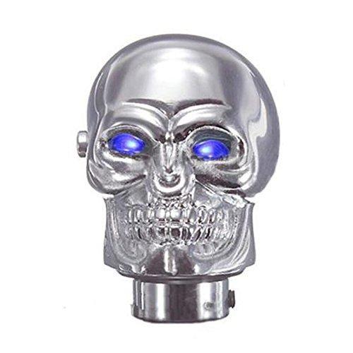 Gear Stick Shift Knob - TOOGOOR Universal Chrome Skull Car Manual Gear Stick Shift Shifter Knob Lever Blue LED