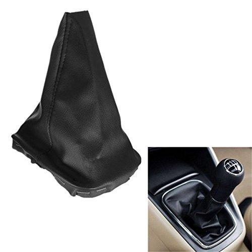 Pink Lizard Leather Gear Stick Shift Knob Dustproof Cover Black for VW Golf MK4 1998-2003