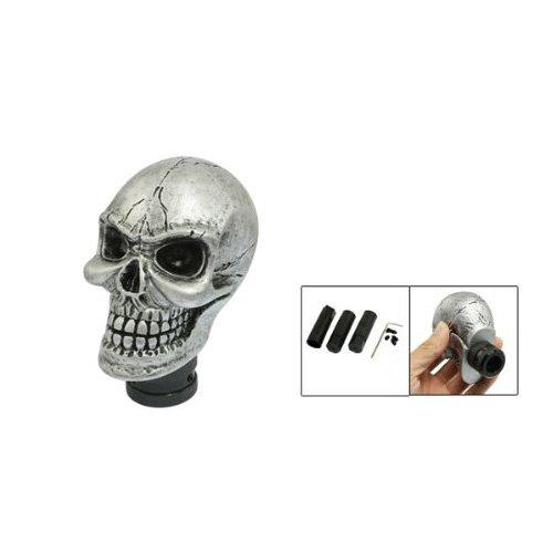Sonline Metal Skull Head Truck Car Gear Shift Knob  3 Plastic Connectors