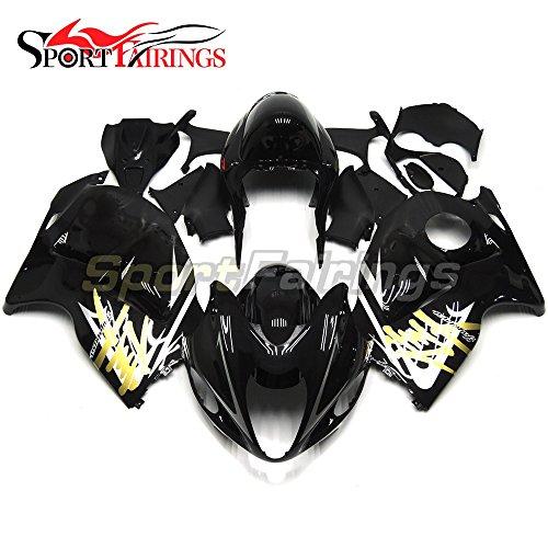 Sportfairings Bike Fairing Kit For Suzuki GSX-R1300 GSXR-1300 Hayabusa 1997 1998 1999 2000 2001 2002 2003 2004 2005 2006 2007 Full Cover Black Gold Decals