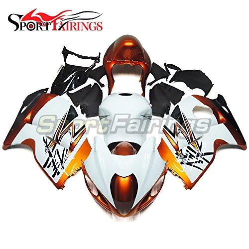 Sportfairings Bike Fairing Kit For Suzuki GSX-R1300 GSXR-1300 Hayabusa 1997 1998 1999 2000 2001 2002 2003 2004 2005 2006 2007 Full Cover White Gold