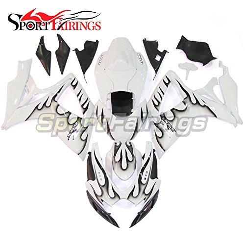 Sportfairings Motorbike Fairing Kit For Suzuki GSX-R750 GSX-R600 GSXR 600 750 Year 2006 2007 K6 Bodywork Injection ABS Plastic White Black Flames