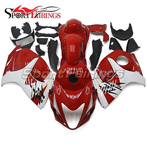 Sportfairings Motorbike Fairing Kit For Suzuki GXSR1300 GSX-R GSXR 1300 Hayabusa 2008 2009 2010 2011 2012 2013 2014 2015 Injection ABS Plastic Red White Cowling