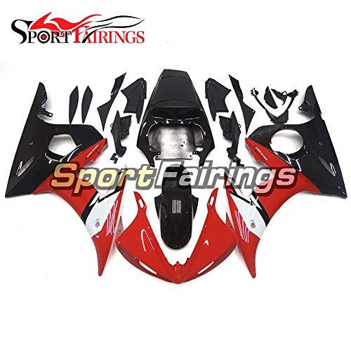 Sportfairings Motorbike Fairing Kits For Yamaha YZF 600 YZF-R6 R6S 06-09 2003 2004 03 04 Full Cover Red Black