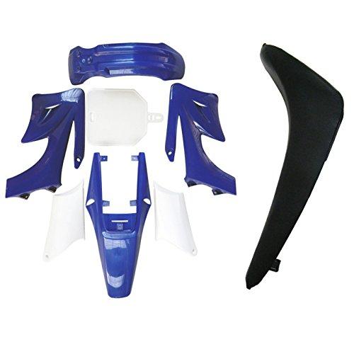 ZXTDR Plastic Fairing Kit Fender Parts and Black Seat for Apollo 110cc 125cc 150cc Pit Dirt Bike 4Blue3White