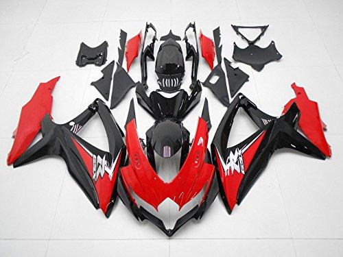 2008 2009 2010 Injection Red Black Fairings for Suzuki GSXR 600 GSXR-750 Motorcycle Bodyframe