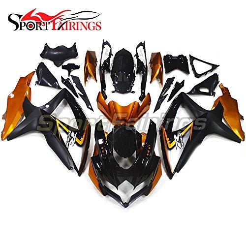 Sportfairings Complete Motorbike Fairing Kit For Suzuki GSX-R750600 GSXR600750 GSX-R 600 750 Year 2008 2009 2010 K8 Full Cover Gold Black